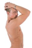 Naked man profile Stock Photos