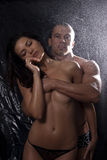 Naked man and woman hugging Royalty Free Stock Photography