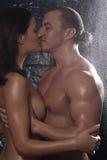 Naked man and woman hugging Royalty Free Stock Photo