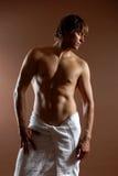 Naked men after bath Royalty Free Stock Photos