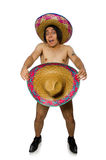 The naked mexican man isolated on white Royalty Free Stock Photo