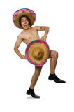 The naked mexican man isolated on white Stock Photo