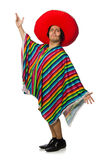 The naked mexican man isolated on white Stock Photography
