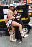 Naked muscular cowboy macho in new york, usa Royalty Free Stock Image