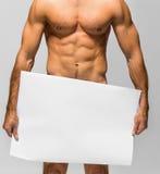 Naked muscular man Royalty Free Stock Image