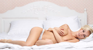 Naked sexy girl with beautiful body Royalty Free Stock Photo