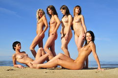 Naked  six girls Royalty Free Stock Image