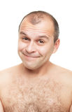 Naked and smiling Stock Photography