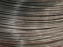 Naked steel wire in hank Royalty Free Stock Photos