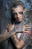 Naked tattooed woman Royalty Free Stock Photos
