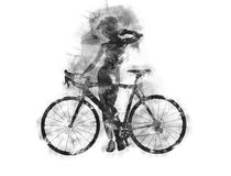 Naked woman with a bicycle. Royalty Free Stock Image
