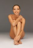 Naked woman. Picture of healthy naked woman over white Stock Photo