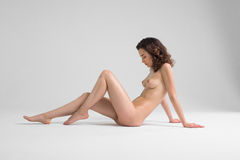 Naked Woman Posing Stock Images