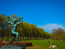 Naked woman's statue Royalty Free Stock Photo