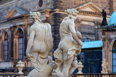 Naked women statues near Theaterplatz Stock Photo