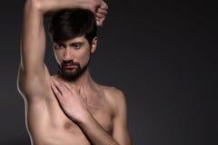 Naken man.  Royaltyfri Foto