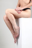 naken sittande kvinna Royaltyfria Bilder