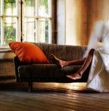 naken soffa Arkivbilder