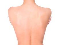 naken tillbaka kvinnlig Royaltyfri Fotografi