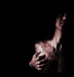nakenstudie för 6 manlig arkivfoto