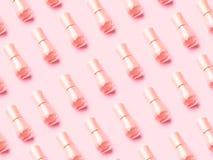 Nakenstudie spikar polermedelmodellen på rosa monokrom arkivfoton