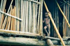 Naket barn i Papua Nya Guinea Royaltyfria Bilder