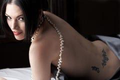 naket kvinnabarn Royaltyfri Bild
