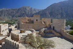 堡垒nakhal北阿曼 库存照片