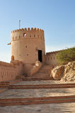 Nakhal fort. Scenic view of Nakhal fort with blue sky background, Muscat, Oman stock images