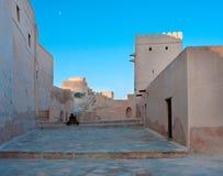 Nakhal fort i Oman. arkivbilder