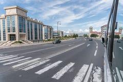 Nakhchivan city - Nakhchivan, Azerbaijan - 14 June 2018. Nakhchivan city center street - Nakhchivan, Azerbaijan - 14 June 2018 stock photos