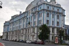 Nakhimov海军学校的大厦 免版税库存图片