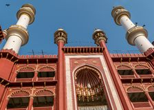 Nakhoda Masjid,加尔各答主要清真寺  库存照片
