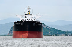 Nakhodka Bay. East (Japan) Sea. 30 June 2015: Bulk carrier Lowlands Nello at anchored in the roads. Stock Image