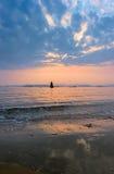 Nakhodka Bay in spring at sunset. Stock Images
