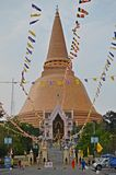 Nakhon pathom chedi. Wat phra pathom chedi in nakhon pathom in thailand royalty free stock images