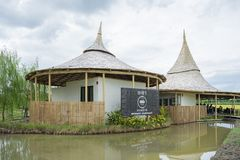 Chata Thammachart coffee cafe in a rice field