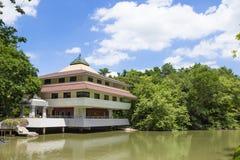 NAKHON PATHOM,THAILAND-AUG 9: pavilion adjacent to pond at Nyana Royalty Free Stock Photo