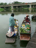 Nakhon Pathom,Thailand- August 3,2014: Floating Market Stock Photo