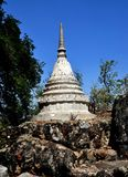 Nakhon Pathom, Thailand: Chedi at Thai Temple Stock Photo