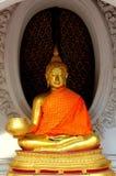 Nakhon, Pathom, Thailand: Gilded Buddha Royalty Free Stock Image