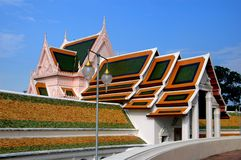 Nakhon Pathom, Thailand: Wat Phra Pathom Chedi Royalty-vrije Stock Foto