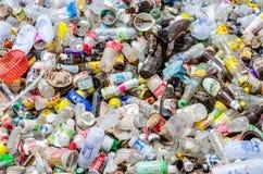 NAKHON PHANOM, THAILAND - 25. JUNI: Bereiten Sie Abfall auf Lizenzfreie Stockfotos