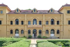 Historic building of Neo-Palladian architecture used for Queen Sirikit National Library, Nakhon Phanom, Thailand Stock Photo