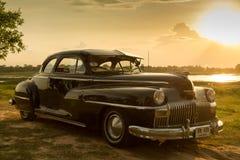 Nakhon Ratchasima, ΤΑΪΛΑΝΔΗ - 13 Ιουνίου: Το εκλεκτής ποιότητας αυτοκίνητο Desoto είναι α Στοκ Εικόνα