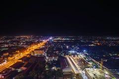 Nakhon Ratchasima city at night, Thailand Royalty Free Stock Image