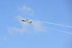 NAKHON RATCHASIMA 27 DE NOVIEMBRE: La exhibición de las acrobacias aéreas compartidas Fotos de archivo