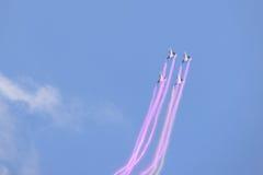 NAKHON RATCHASIMA 27 LISTOPAD: Pokaz aerobatics dzielący Fotografia Stock