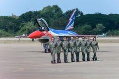 NAKHON RATCHASIMA 27 LISTOPAD: Pokaz aerobatics dzielący Zdjęcie Royalty Free