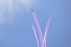 NAKHON RATCHASIMA 27 NOVEMBER :The display of aerobatics shared Royalty Free Stock Photo